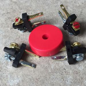 FOUR (4) Speaker Plugs for Pioneer SX & SA Stereos +Bonus Red Turntable Adapter