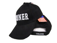Coroner Death Investigator professional black and white 3D Baseball Hat Cap