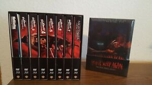 Nightmare on Elm Street - 1-7 + Remake + Never Sleep... 9 Mediabooks + BOX