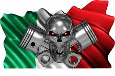 """ITALY Flag Skull Piston Boat Car MOTORCYCLE Truck Stickers Decals Wrap 2- 28"""""""