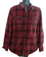 USED Men's Voyager Sherpa Lined Snap-up Flannel Shirt/Jacket w/Pockets