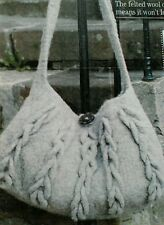 Knitting pattern Super Chunky Felted Bag