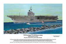 USS Saratoga, Aviation Art, Ernie Boyette
