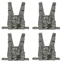 4X Chest Front Pack Pouch Holster Carry Bag Kenwood BaoFeng Yaesu Walkie Talkies
