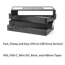 Video Tape Transfer Service to USB Drive! Flat Rate Shipping! VHS and more!