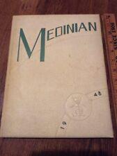 Medinian Yearbook Medina High School Ohio Bees 1948 Ads