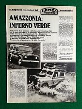 PY48 Pubblicità Advertising Clipping 24x18 cm (1984) CAMEL TROPHY 84 AMAZZONIA