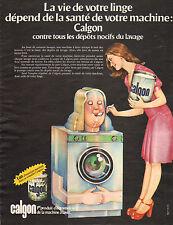 Publicité  Advertising 1973  Machine à laver Lave linge CALGON
