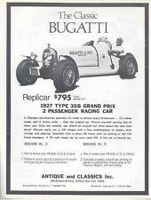 1927 1974 Bugatti Type 35 VW Kit Car Brochure mx2777-RXAVMX
