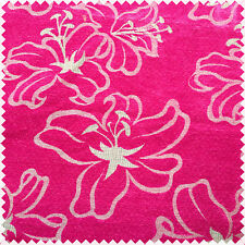 Like Velvet Beautiful Floral Flower Pink Pattern Fabric Curtain Craft Upholstery