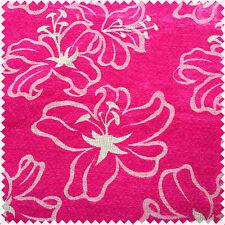 Comme floral magnifique en velours rose motif rideau en tissu Craft Tapisserie