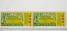 Pittsburgh Panthers vs. Penn state 1936 College Football Ticket Stubs RARE V56