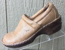Women's BOC Born Concepts Gold Leather Clogs Mules Size 8.5M
