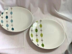 "Pier 1 BEADED GARLAND CHRISTMAS 7.5""  Porcelain Salad/Dessert Plates Set Of 4"