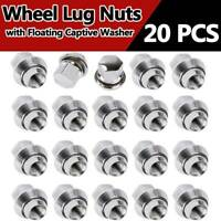 20 X Alloy Wheel Nuts Bolt Lug Stud Tyre Whorl Nuts With Washer For Ford Focus