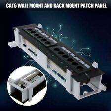 CAT6 UTP 12 PORT NETWORK MINI PATCH PANEL 110 WITH MOUNT WALL BRACKET G8B5