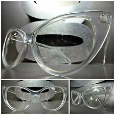 VINTAGE RETRO 60s CAT EYE Style Clear Lens EYE GLASSES Transparent Fashion Frame