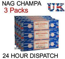 3 Packs Original Satya Sai Baba Nag Champa Incense Sticks  Joss Insence Genuine