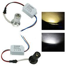 1W Mini LED Blanco / Cálido Foco Luz Gabinete Lámpara de Inundación Bombillas