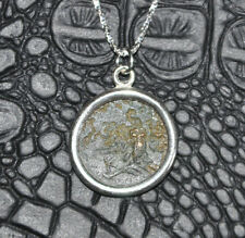 Olive Branch & Owl Authentic Ancient Greek Coin 925 Sterling Silver Necklace