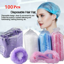 70/100pc Disposable Hair Net Bouffant Cap Kitchen Food Medical Worker Non Woven