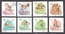 HUNGARY , 1956 , 1956 OLYMPICS , SPORTS , SET OF 8 , USED