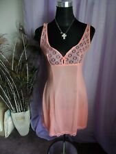 VTG UNBRANDED MINI  NYLON  ORANGE FULL SLIP BUST 32 ins USED