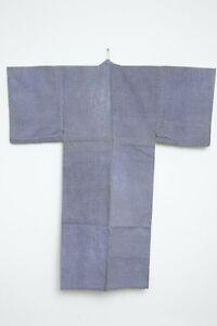 Authentic Traditional vintage men's indigo cotton Japanese kimono