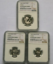 1990 platinum panda coin 1/2oz 1/4oz 1/10oz 3pcs coin set NGC PF69 Ultra Cameo