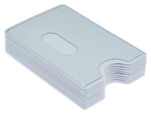 Kredit EC Kartenhülle Weiß transparent STABIL Kartenbox Schutzhülle Einlasskarte