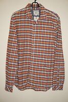 DIESEL MEN'S LONG SLEEVE CASUAL SHIRT SIZE L LARGE 100% COTTON MULTI-COLOR SLIM