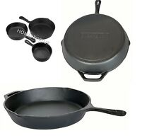 CAST IRON NON STICK GRILL PAN SKILLET GRIDDLE FRY FRYING COOKING PAN INDUCTION
