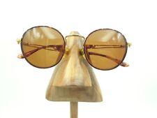 Vintage Sergio Tacchini ST1004-S T807 Tortoise Gold Round Sunglasses Frames