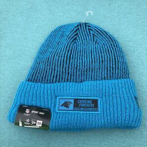 New Carolina Panthers Authentic New Era NFL Blue Knit Winter Beanie Cap Hat