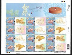 Hong Kong, China 2020-1 New Year of Rat 2V Special Full S/S Zodiac 個性化 心思心意 鼠年