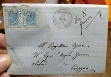 1873 126) Brief Frankiert Da Tunis Bis Cicagna Lackschuhe Sneakers Dampfer Post