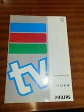 1970's Phillips 16 CT 4718 TV/Remote Control Operating Instructions