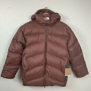 The North Face Palomar Down Parka Jacket Coat Womens S Marron Purple Puffer Hood