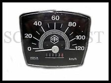 Vespa Vintage V50 Special PL Square Black Face 120kmph Speedo Speedometer New