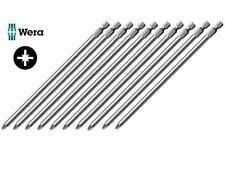 10x WERA Pz2/Pozi 2 Très Longue & Robuste 152mm/6in 0.6cm Embout Tournevis