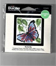 Butterfly Bucilla Plaid Minature Cross Stitch Kit WM45678 2.5 x 2.5 New