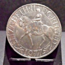 UNCIRCULATED 1977 1 CROWN QUEEN'S JUBILEE UK COIN (102816)1