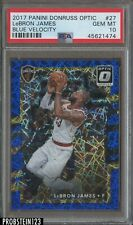 2017-18 Donruss Optic Blue Velocity LeBron James Cavaliers PSA 10 GEM MINT