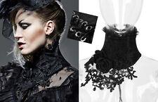 EN STOCK Collier col corset de cou gothique lolita burlesque broderies Punkrave