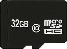 Carte Mémoire MicroSDHC 32 GO Classe 10 pour Huawei P8 Lite, honneur 7