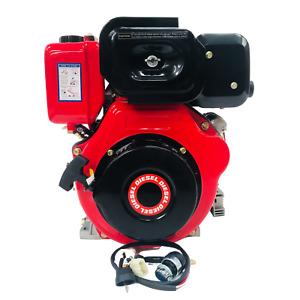 "LA186F1E 10HP ELECTRIC START DIESEL ENGINE REPLACES YANMAR L100 L100AE 1"" SHAFT"