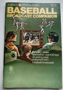 1973 Baseball Broadcast Companion (Benco mini-booklet)