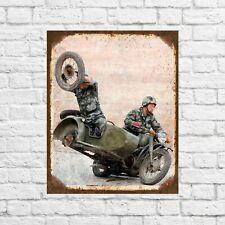 Motorbike metal sign, motorcycle sign, garage signs, garage decor, girl man cave