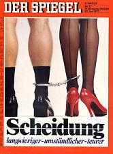"""""""Der Spiegel"""" Nr. 27 von 1977, Titel - Scheidung - langwierig-umständlich-teuer"""