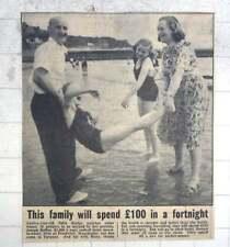 1950 Joseph Bullas And Family Enjoying Holiday Torquay, Julia, Susan, Ruby